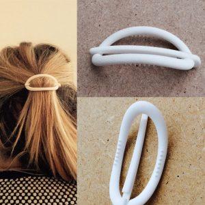 3D hair clip white